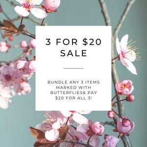 3 FOR $20 SALE HAPPENING NOW!!!